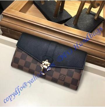 Louis Vuitton Damier Ebene Clapton Wallet Noir N64449