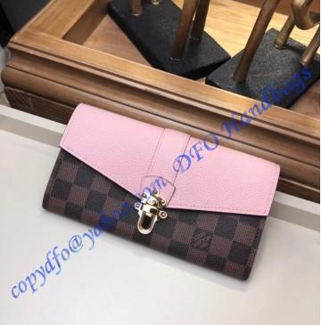 Louis Vuitton Damier Ebene Clapton Wallet Magnolia N64447
