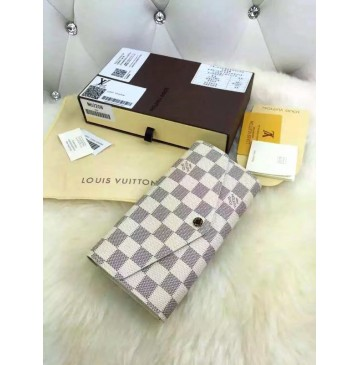 Louis Vuitton New Sarah Wallet in Damier Azur Canvas N63208