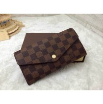 Louis Vuitton New Sarah Wallet in Damier Ebene Canvas N63209