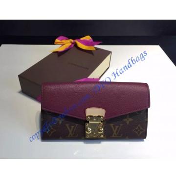Louis Vuitton Pallas Wallet Purple