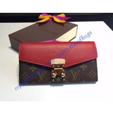 Louis Vuitton Pallas Wallet Red