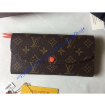 Louis Vuitton Monogram Canvas Emilie Wallet in Orange