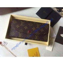 Louis Vuitton Monogram Canvas Emilie Wallet in Purple