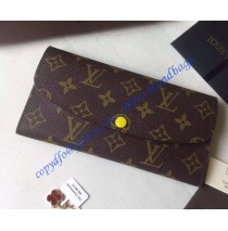 Louis Vuitton Monogram Canvas Emilie Wallet in Yellow