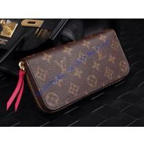 Louis Vuitton Monogram Canvas Clemence Wallet Fuchsia M60742