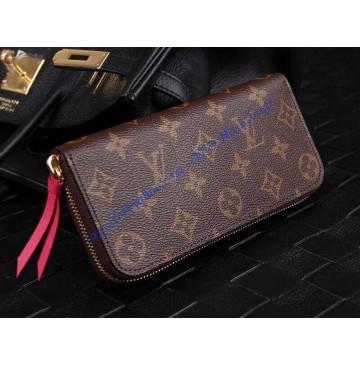 Louis Vuitton Monogram Canvas Clemence Wallet Fuchsia M60742