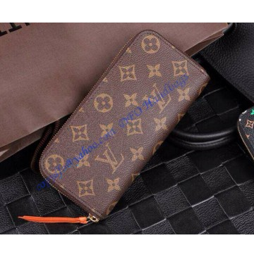Louis Vuitton Monogram Canvas Clemence Wallet Red Chili M60743