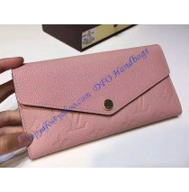 Louis Vuitton Sarah Wallet in Light Pink Monogram Empreinte Leather