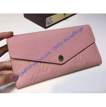 Louis Vuitton Sarah Wallet in Light Pink Monogram Empreinte Leather
