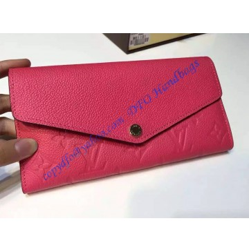Louis Vuitton Sarah Wallet in Lippie Pink Monogram Empreinte Leather