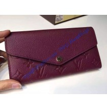 Louis Vuitton Sarah Wallet in Purple Monogram Empreinte Leather