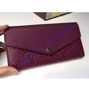 Louis Vuitton Sarah Wallet in Purple Monogram Empreinte Leather