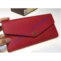 Louis Vuitton Sarah Wallet in Red Monogram Empreinte Leather