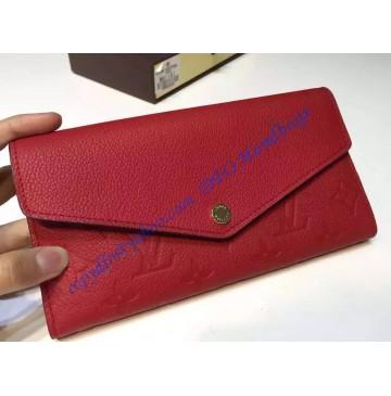 Louis Vuitton Sarah Wallet in Red Monogram Empreinte Leather