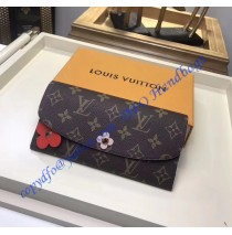 Louis Vuitton Monogram Bloom Flower Emilie Wallet Orange