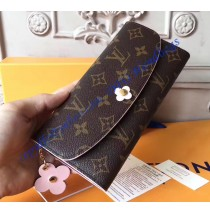 Louis Vuitton Monogram Bloom Flower Emilie Wallet Purple