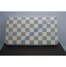Louis Vuitton Damier Azur Porte-monnaie zippe N60012