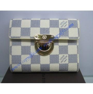 Louis Vuitton Damier Azur Porte-papier zippe N60013