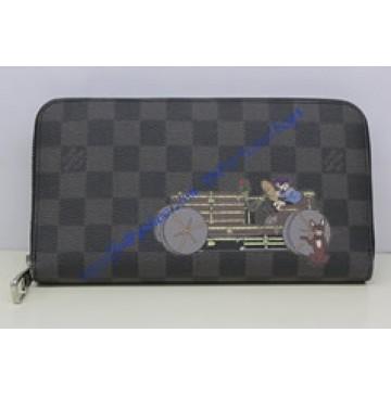 Louis Vuitton Damier Graphite Canvas Zippy Organiser Illustre N63002