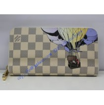 Louis Vuitton Damier Azur Canvas Zippy Wallet Illustre N63006