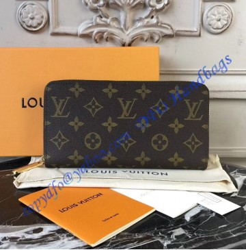 Louis Vuitton Monogram Canvas Zippy Wallet with Rose Ballerine Leather Lining M41894