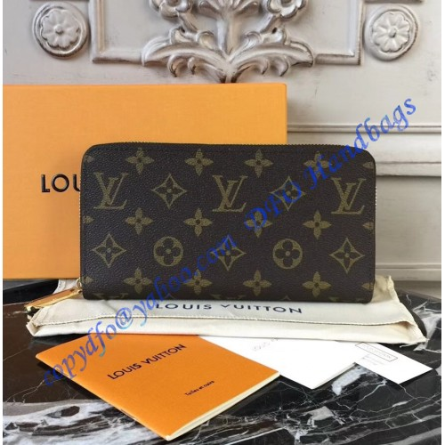 795cfcfd0b9c Loading zoom · Louis Vuitton Monogram Canvas Zippy Wallet with Rose  Ballerine Leather ...