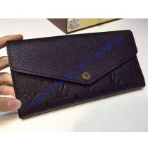 Sarah Wallet in Black Monogram Empreinte Leather
