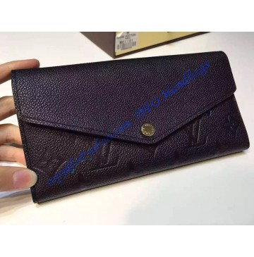 Louis Vuitton Sarah Wallet in Black Monogram Empreinte Leather