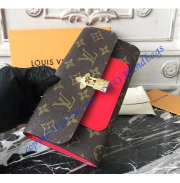 Louis Vuitton Monogram Canvas Flower Wallet Coquelicot M62566