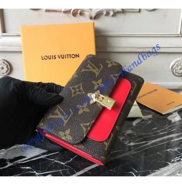 Louis Vuitton Monogram Canvas Flower Compact Wallet Coquelicot M62567