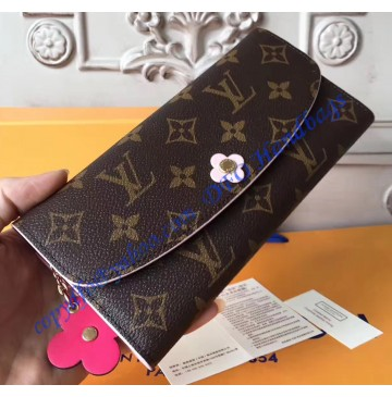 Louis Vuitton Monogram Bloom Flower Emilie Wallet M64202
