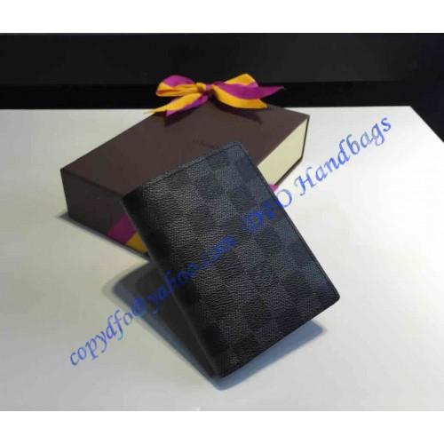 9a796d26e8b9 Louis Vuitton Damier Graphite Canvas James Wallet N63117. Loading zoom