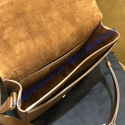 Saint Laurent Betty Satchel In Smooth Leather Caramel