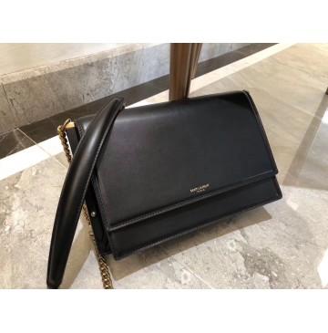 Saint Laurent Zoe Bag in Black Leather