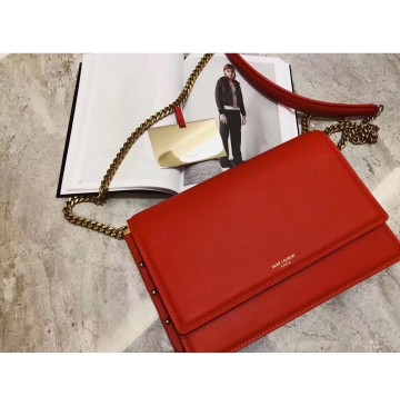 Saint Laurent Zoe Bag in Red Leather