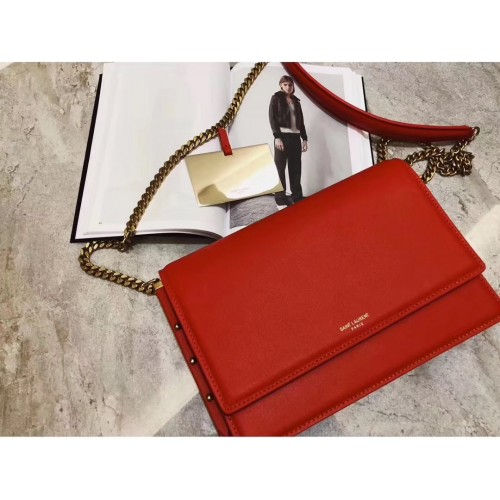 431dd0a8420 Saint Laurent Zoe Bag in Red Leather. Loading zoom