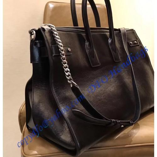 Ysl Sac De Jour Souple 36h Duffle Bag In Black Moroder Leather