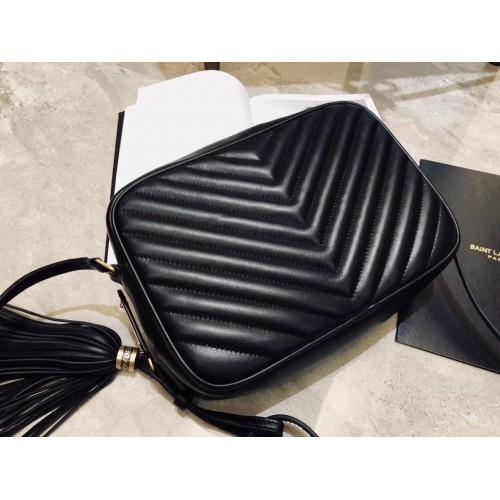 1a2d056785e5 Saint Laurent Lou Camera Bag in Black Matelasse Leather