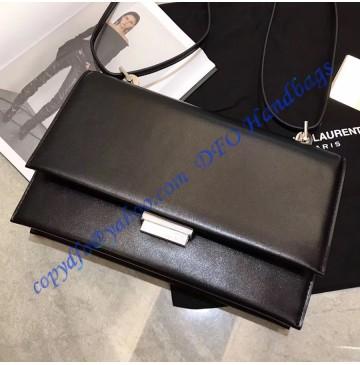 Saint Laurent Small Babylone Satchel in Black leather