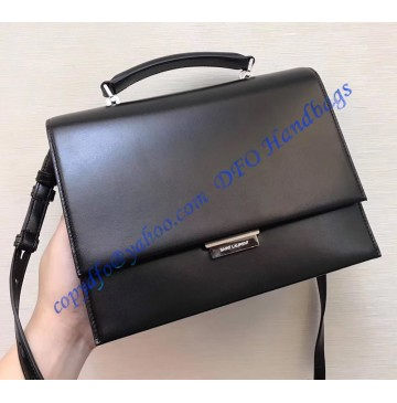 Saint Laurent Medium Babylone Satchel in Black leather