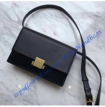 Medium Bellechasse Bag in Black Leather and Suede