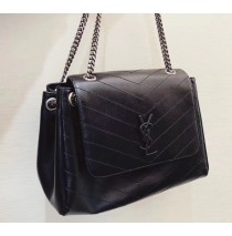 Saint Laurent Medium Nolita Bag in Black Vintage Leather