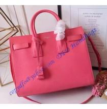 Saint Laurent Classic Small SAC DE JOUR Bag in Pink Calfskin