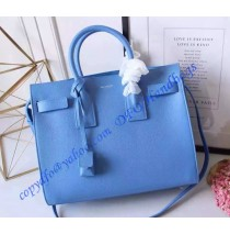 Saint Laurent Classic Small SAC DE JOUR Bag in Sky Blue Calfskin