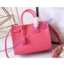 Saint Laurent Classic Baby SAC DE JOUR Bag in Pink Calfskin