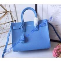 Saint Laurent Classic Baby SAC DE JOUR Bag in Sky Blue Calfskin