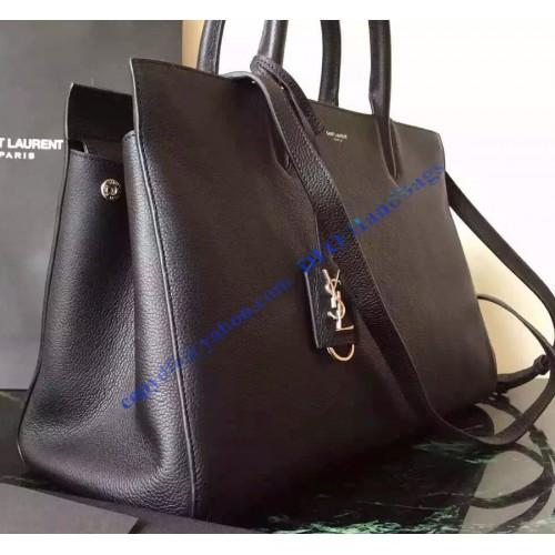 yves saint laurent cabas chyc tote bag - Saint Laurent Medium Cabas RIVE GAUCHE Bag in Black Grained ...