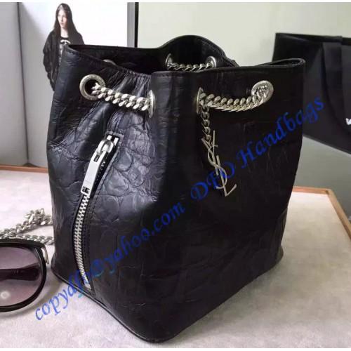 Saint Laurent Classic Baby Emmanuelle Chain Bucket Bag In