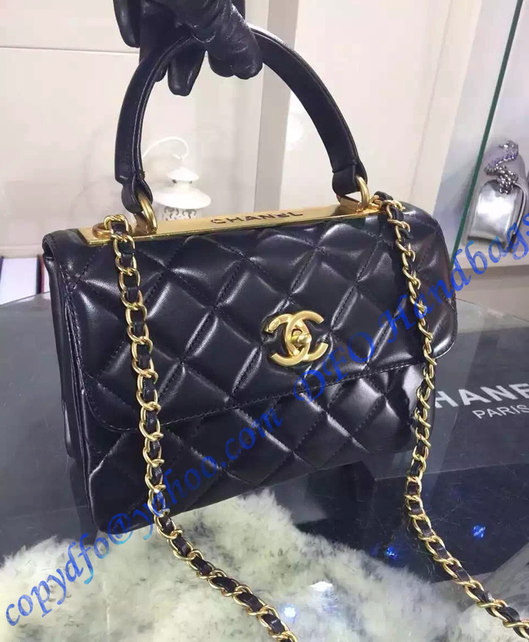 chanel trendy cc flap bag in black lambskin  u2013 luxtime dfo handbags
